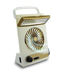 3 in 1 Cooling Fan Camping Lamp- Multi-functional Solar Tabl