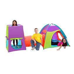 3 In 1 Kids Little Explorer Play Tent Tunnel House In/Outdoo