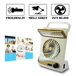 Ansee 3 in 1 Multi-functional Solar Cooling Table Fans with