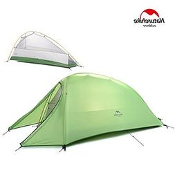 Camping Tent 1 Person 4 Season Tent Double Skin 210T Plaid F