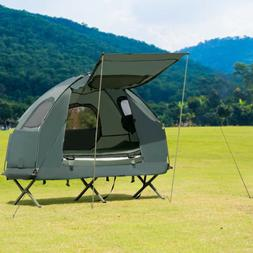 1-Person Compact Portable Pop-Up Tent Air Mattress & Sle
