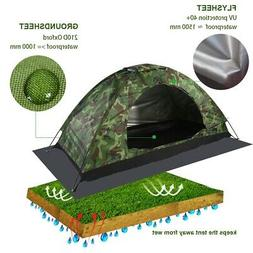 1 Person Outdoor Camping Waterproof UV Protection Camouflage
