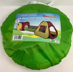 UTEX 3 in 1 Pop Up Play Tent with Tunnel, Ball Pit for Kids,