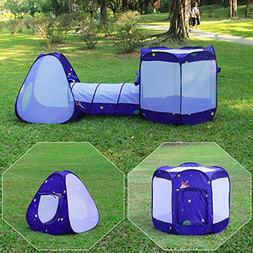 Homfu 3 in 1 Tunnel Tent for Kids Play House for Children To