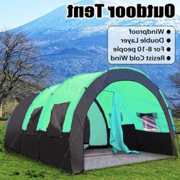 10 People Large Windproof Travel Camping Hiking Double Layer