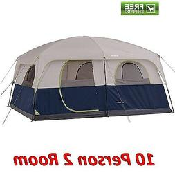 Ozark Trail 10 Person 2 Room Cabin Tent Waterproof Camping H