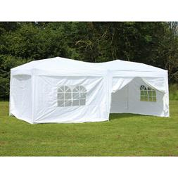 10 x 20 Palm Springs Pop Up Canopy Gazebo Party Tent with 6