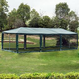 10' x 30' Gazebo Canopy Cover Party Tent with Removable Mesh