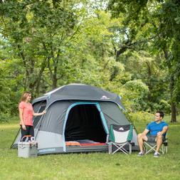 Ozark Trail 10' x 9' Dark Rest Frp Cabin Tent, Sleeps 6 W