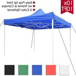 10x10 ft EZ Pop Up Canopy Tent Patio Outdoor Instant Gazebo