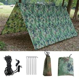 10FT Waterproof Camping Tent Tarp Shelter Hammock Cover Rain
