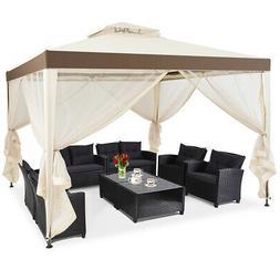 10'x 10' Canopy Gazebo Tent Shelter w/Mosquito Netting O