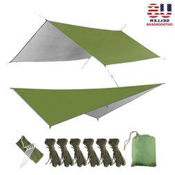 10x10ft Camping Tent Hammock Tarp Rain Fly Cover Waterproof