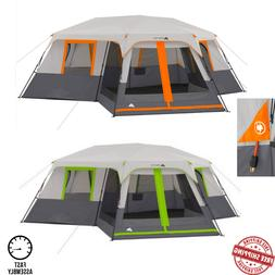 12 Person Instant Cabin 20 x 18 Tent 3-Room Camping Outdoor