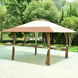 13'x13' Folding Gazebo Canopy Shelter Awning Tent Patio