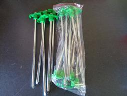 GREEN Tent Stakes Pegs Heavy Duty Steel Metal Camping Tarp