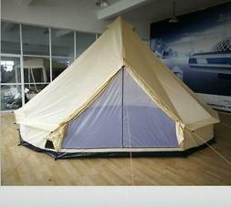 17'  Family Tent 10 Persons Waterproof  Teepee Bell Tents Hu