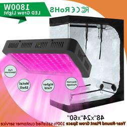 1800W Led Grow Light Kit Plant Light w/ 4' x 2' Hydroponic G