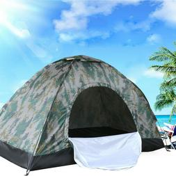 2-4 Person Outdoor Camping Waterproof Folding Tent Camouflag