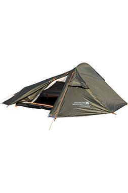 Mountain Warehouse 2 Man Backpacker Tent - 1 Room Summer Cam