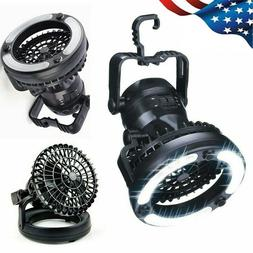 2 in 1 Portable LED Camping Light w/ Ceiling Fan Outdoor Fla