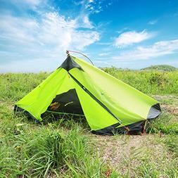 WolfWise 2 Person 3-4 Season Lightweight Backpacking Tent Wa