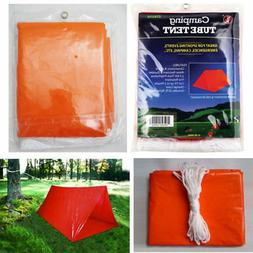 2 Persons Tube Tent Emergency Survival Hiking Camping Shelte