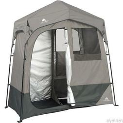 "2-Room Instant Shower/Utility Shelter, 7' x 3.5' x 84"", Grey"