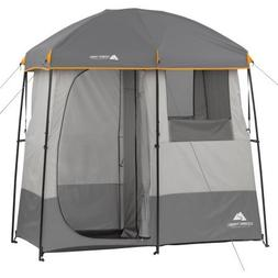2-Room Non-Instant Shower Tent with 5-Gallon Solar Heated Sh