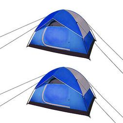 2 set Blue / Gray 2 to 3 person Pop-up Backpacking Tents Out