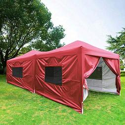 Quictent Privacy 10x20 EZ Pop Up Canopy Party Tent Folding G