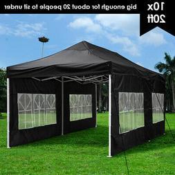 10x20ft Pop Up Canopy Instant Folding Gazebo Patio Outdoor P
