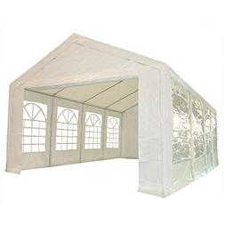 26'x13' PE Party Tent White - Heavy Duty Wedding Canopy Carp