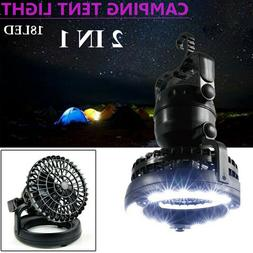 2 In 1 Portable LED Camping Lantern Light Ceiling Fan Outdoo