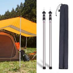 "REDCAMP 2Pcs Aluminum Adjustable Camping Tarp Poles 90"" Tele"
