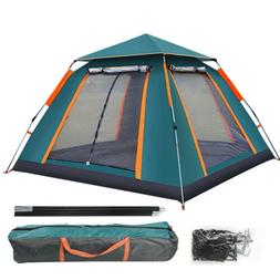 3-4 People Automatic Popup Cabin Camping Hiking Tent Outdoor