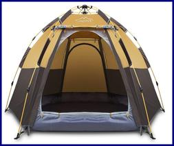 Toogh 3 4 Person Camping Tent Backpacking Tents Hexagon Wate