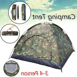 3-4 Person Camping Tent Family Outdoor Sleeping Dome Water R