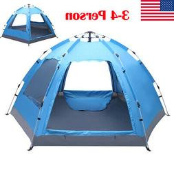 3-4 Person Instant Pop Up Family Waterproof Family Backpacki