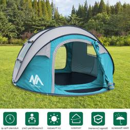 3-4 Person Outdoor Instant Dome Tent Automatic Pop-up Waterp