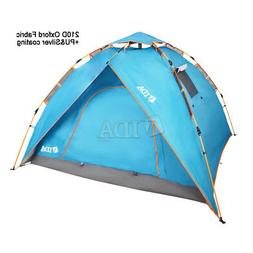3-4 Person Pop-up Water Resistant Camping Hiking Instant Sim