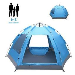 3-4 Person Waterproof Camping Tent Automatic Pop Up Quick Sh