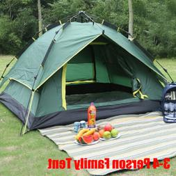 3-4Person Waterproof Automatic Instant Pop Up Family Outdoor