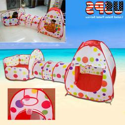 3 in 1 Baby Toddler Crawling Tunnel Play Tube Outdoor Indoor