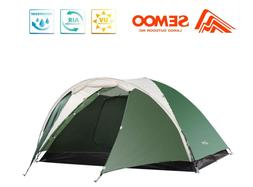 SEMOO 3 Person Camping Tents 4-Season Double Layers Lightwei
