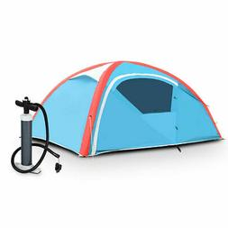 3 Person Inflatable Family Tent Camping Waterproof Wind Resi