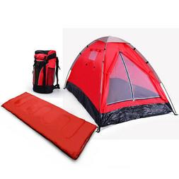 3 Piece 1 Person Camping Gear Set- 1 Tent,1 Sleeping bag and