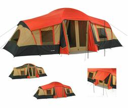Ozark Trail 3 Room Cabin Tent 10 Person 20'x11' Large Campin
