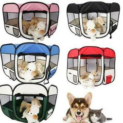"36""45""57"" Folding Pet Dog Cat Tent Playpen Exercise Play Pen"