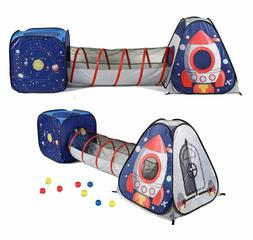 UTEX 3pc Space Astronaut Kids Play Tent, Pop Up Play Tents w